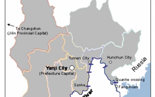 Grensgevallen_# 2:  Hunchun, China: bruggenhoofden